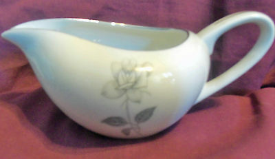 Queens Royal Fine China Platinum Rose Creamer ~ Excellent Shape