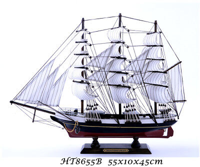 Hobby Collection Vintage Retro Wooden 55cm Sailing Ship Model MEDITERRANEAN #55B