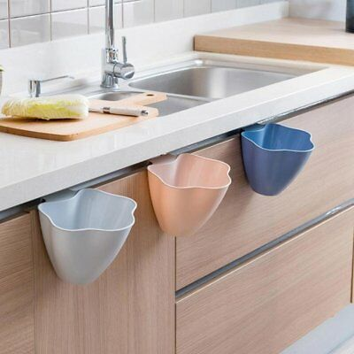 Kitchen Cabinet Door Hanging Trash Garbage Waste Bin Can Basket Container Gadget