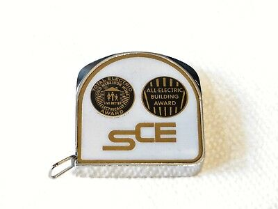 Southern California Edison Vintage Gold Medallion Home Scale Tape Measure