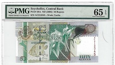 P-39A 2005 50 Rupees, Seychelles Central Bank, PMG 65EPQ