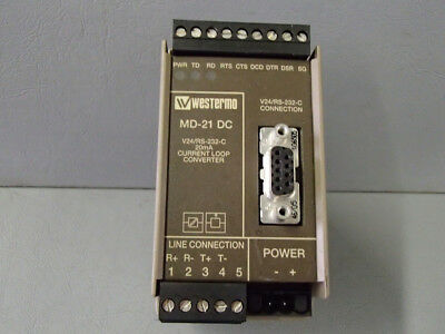 MD21 - Westermo - MD-21/3151-2001 Current Loop Converter Used