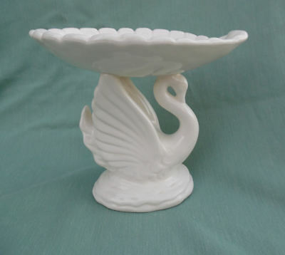SWAN CERAMIC SOAP DISH ART DECO STYLE BY ARDCO FINE QUALITY DALLAS EARLY 1960's