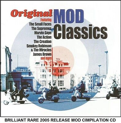 Best Greatest MOD Hits Compilation CD Yardbirds David Bowie Small Faces Supremes