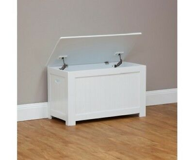 Baby Kids Storage Bedroom Playroom Toy Box Drawer Chest Bench Seat - White
