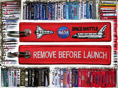 keyring NASA SPACE SHUTTLE Remove Before Flight -> no: LAUNCH! ;-) keychain tag