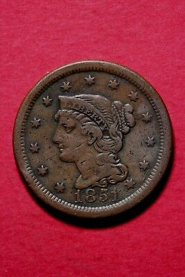1851 Braided Hair Large Cent Exact Coin Pictured Flat Rate Shipping Lot#1010#084