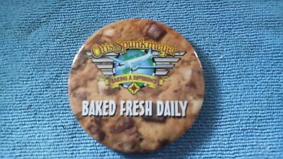 Otis Spunkmeyer Pinback Button  Airplane Wings Cookies Baked Fresh Daily