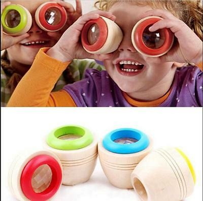 Wooden Educational Magic Kaleidoscope Learning Puzzle Toy Baby Kid Children tg2