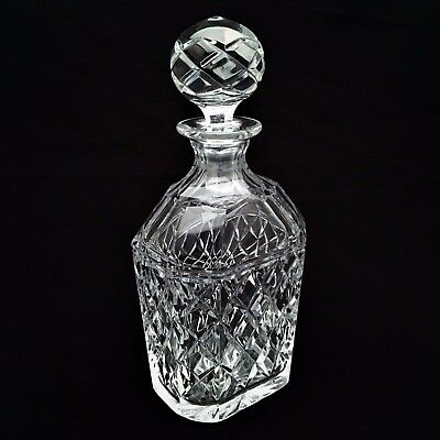 Rare Signed Kosta Boda Sweden Small Cut Crystal Decanter, Replaced Stopper