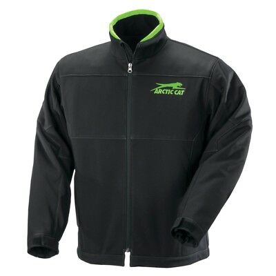 Arctic Cat Men's Windproof Softshell Tech Jacket - Black & Green - 5260-59_