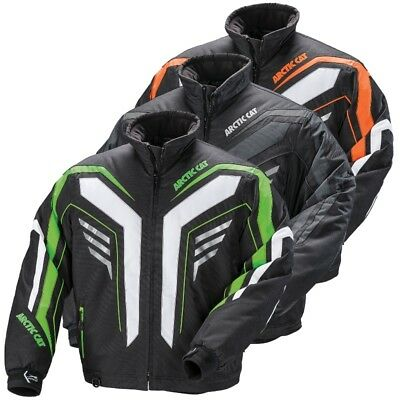 Arctic Cat Men's Bullet Advantage Winter Snowmobile Jacket - Green Black Orange