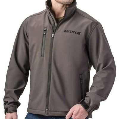Arctic Cat Men's Polyester Spandex Windproof Softshell Jacket - Gray - 5280-54_