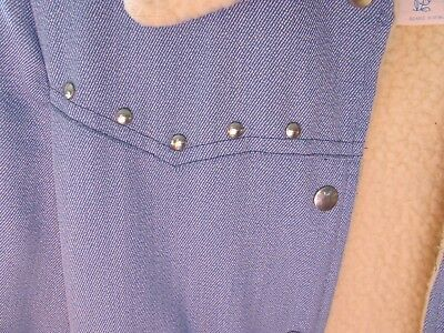 Vintage 70's Childs Youth Studded Sears Growing Girl Sherpa 14 Blue Western Coat