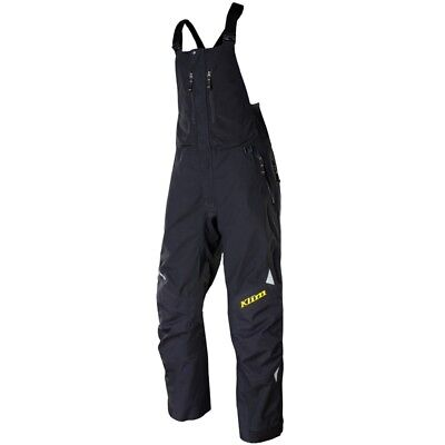 Klim Men's Gore-Tex Non-Insulated Storm Snowmobile Bibs Pants - Black
