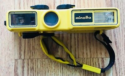 "Minolta vintage Weathermatic ""A"" Underwater Camera Diving Scuba 110 film vtg"