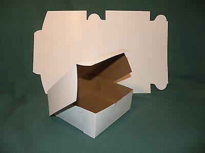 """100 White Bakery Box 6 x 6 x 2.5"""" Candy Treats Cupcakes Crafts"""
