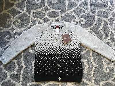 Toddler Girl's Tea Collection Sweater Size XS (2-3) Alpaca Wool Holiday Cardigan