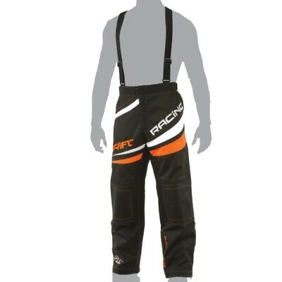 Drift Men's Racing Waterproof Uninsulated Pants - Orange & Black - 5255-33_