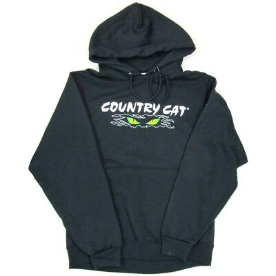 Country Cat Men's Cat Eyes Logo Black Sweatshirt 50/50 Cotton Poly - CCBLACKSWT_