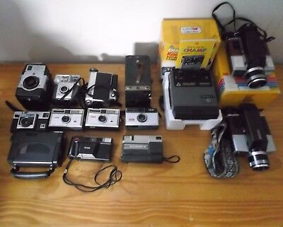 Lot of 14 Vintage Kodak Cameras ***This is a AS IS sale***