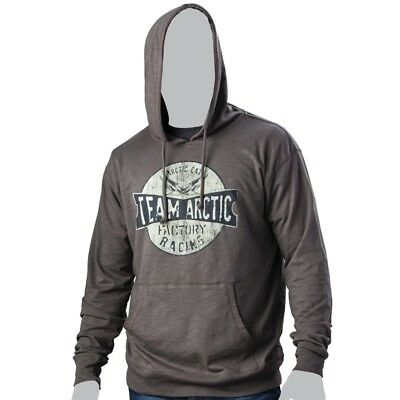 Arctic Cat Men's Team Factory Racing Hoodie Sweatshirt Pullover Gray - 5269-56_