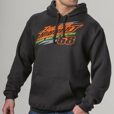 Arctic Cat Men's Tucker Hibbert 68 Team Arctic Racing Hoodie - Black - 5279-75_