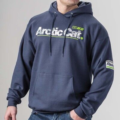 Arctic Cat Men's Racing Relaxed Fit Cotton Polyester Hoodie - Blue - 5283-51_