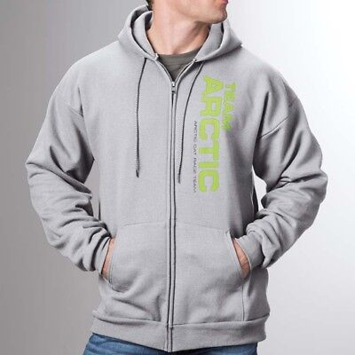 Arctic Cat Men's Relaxed Fit Full Zip Team Arctic Race Hoodie - Gray - 5279-67_