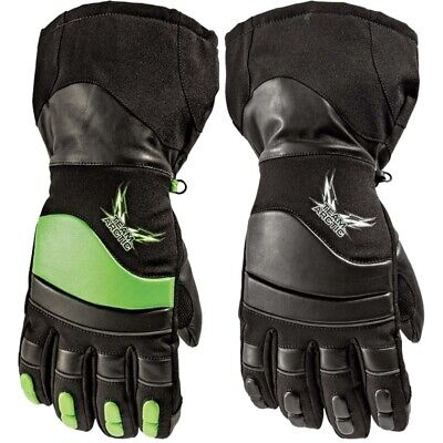 Arctic Cat Adult Extreme Gloves Waterproof Breathable High-cuff - Green Black