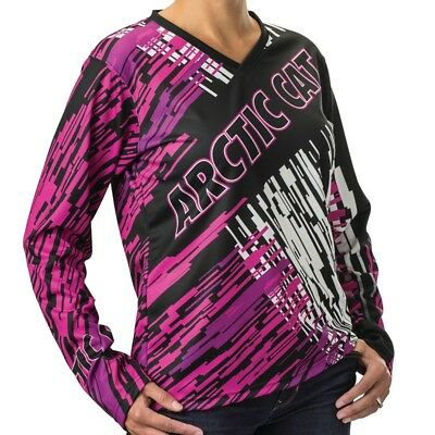 Arctic Cat Women's Arctic Cat Pink Jersey - Pink White and Black - 5259-90_