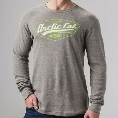 Arctic Cat Men's Ride For Life Thermal Long-Sleeve Slim Fit T-Shirt Gray 5283-55