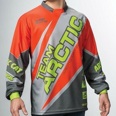 Arctic Cat Men's Relaxed Fit Polyester Team Sponsor Jersey - Orange - 5279-57_