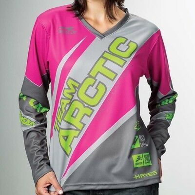 Arctic Cat Women's Relaxed Fit Polyester Team Sponsor Jersey - Pink - 5279-58_