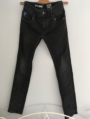NEXT Authentic Boys  Denim Black Grey Super Skinny Jeans Trousers Age 12 Years