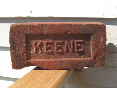 ~ KEENE~ Red Clay Bricks Keene NH Brick Co (1909-1920) Brickyard KSC