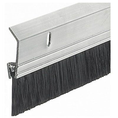 "2 x 36"" Extra Aluminum / Brush Door Sweep, Silver Save Energy Extra-wide - New"