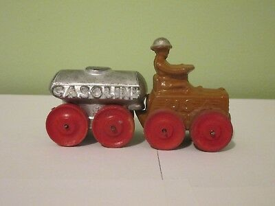 Vintage Manoil Solider USA Tractor with Gasoline Tanker