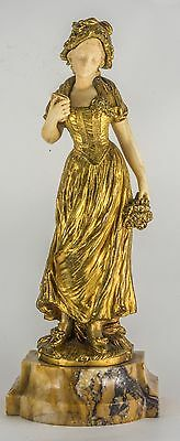 Antique Gilt Bronze Figure Of A Lady  C1900