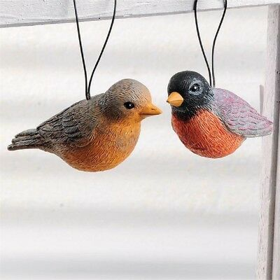 Blossom Bucket Set of 2 Robins with Hangers