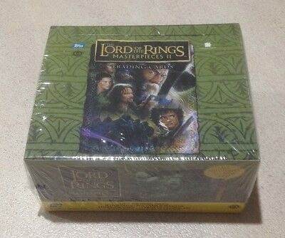 """2008 Topps """"Lord of the Rings - Masterpieces II (2)"""" - Factory Sealed Hobby Box"""