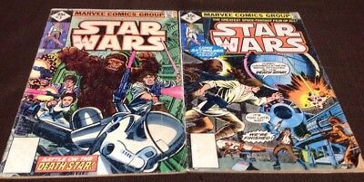 BRONZE AGE MARVEL STAR WARS COMIC LOT OF 2 READER'S COPIES! #'s 3 & 5 2nd PRINT.