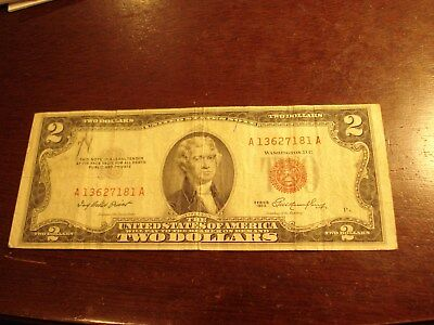 1953 - USA - $2 note - American two dollar - A 13627181 A