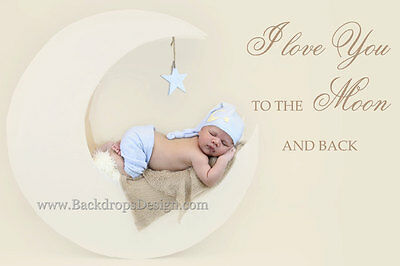 Moon Prop Newborn Photography Prop Moon Baby Prop Moon and Star Photo Prop