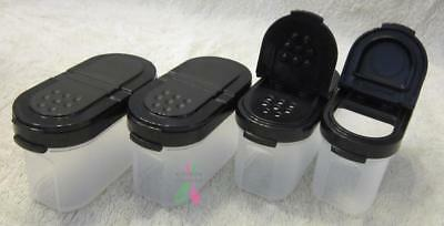 Tupperware Spice Set Small - Black Seals- Set of 4 -NEW
