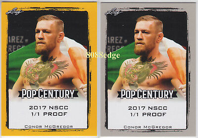 "(2) 2017 POP CENTURY GOLD NSCC PROOF: CONOR McGREGOR #1/1 OF ONE ""UFC CHAMPION"""