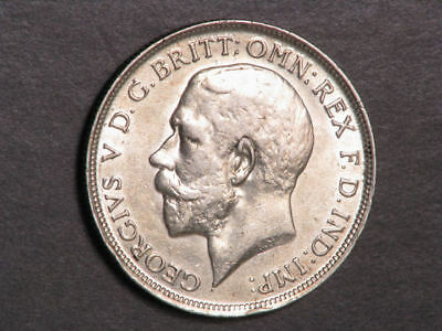 GREAT BRITAIN 1916 1 Florin George V Silver XF-AU
