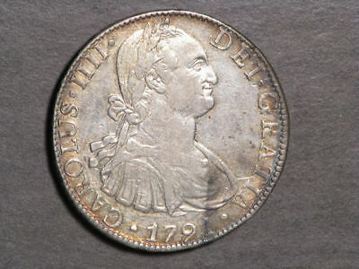 MEXICO 1791MoFM 8 Reales Silver Crown XF