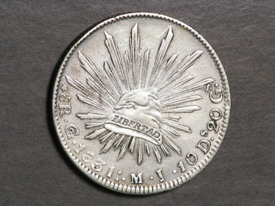 MEXICO 1831GoMJ 8 Reales Silver Crown VF-XF
