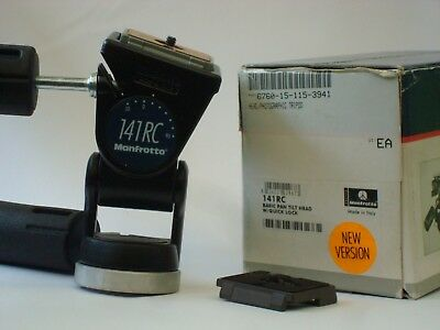 Manfrotto 141RC Tripod Head with 2 200PL-14 plates in Excellent Condition.